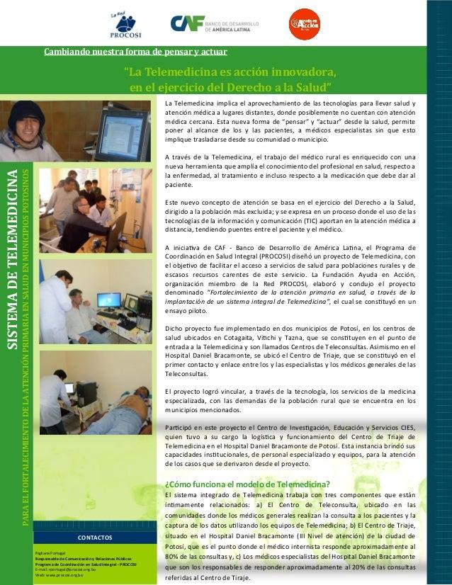 """Cambiando nuestra forma de pensar y actuar  """"La Telemedicina es acción innovadora, en el ejercicio del Derecho a la Salud""""..."""