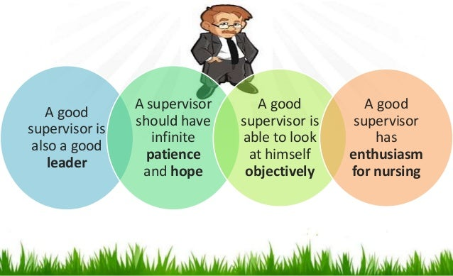 being a good supervisor essay At one of my training sessions recently, we had a discussion about being a first-time supervisor while the group had a tremendous amount of management experience.