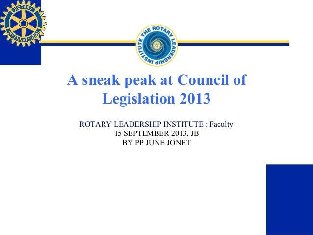 Rotary international Council on legislation 2013 excerpt
