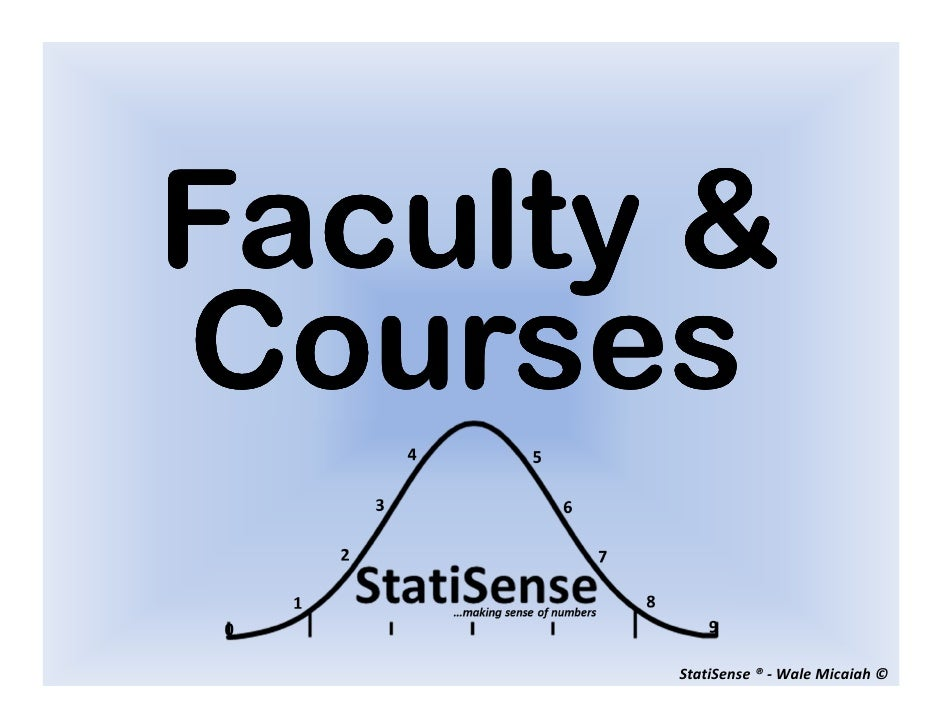 Faculty and courses