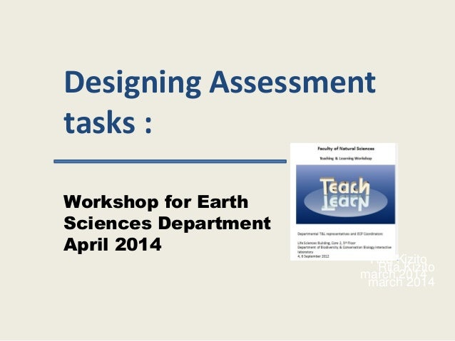 Faculty assessment presentation april 2014