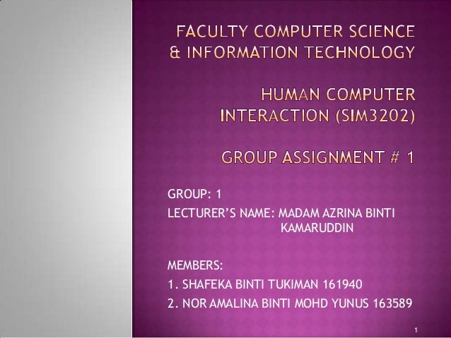 Faculty computer science & information technology