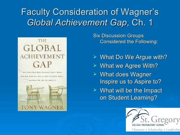 Faculty Consideration of Wagner's  Global Achievement Gap , Ch. 1 <ul><li>Six Discussion Groups Considered the Following: ...