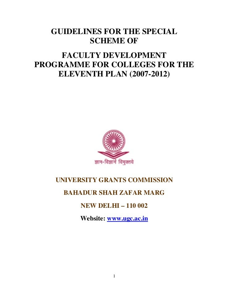 Faculty development amended on 9feb10