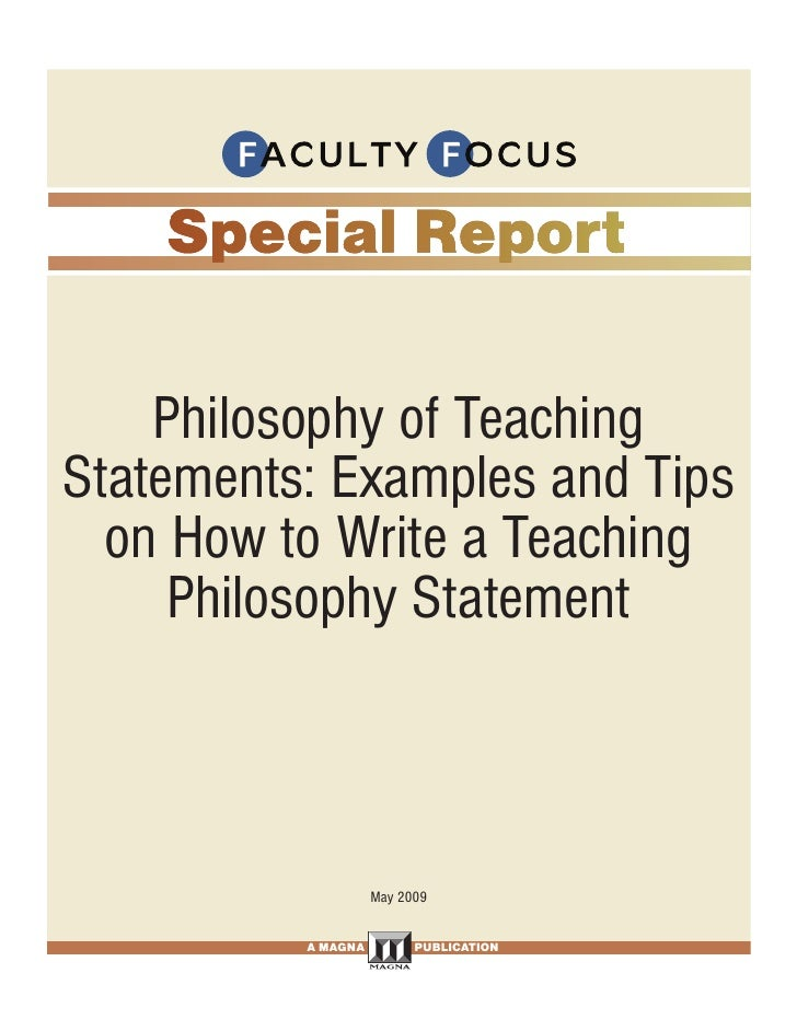 Philosophy of Teaching Statements: Examples and Tips   on How to Write a Teaching      Philosophy Statement               ...