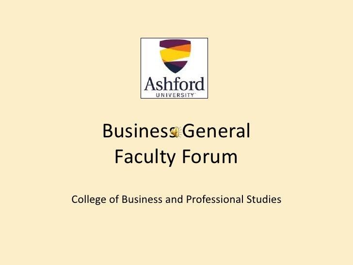 Faculty forum presentation  march 2012