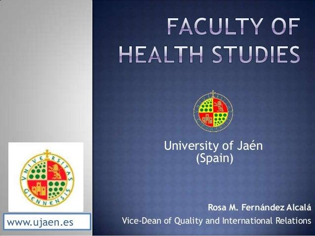 Faculty of health studies uja info