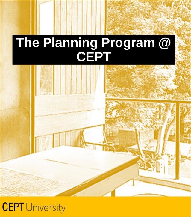 The Planning Program @ CEPT