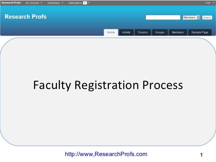 Faculty Registration