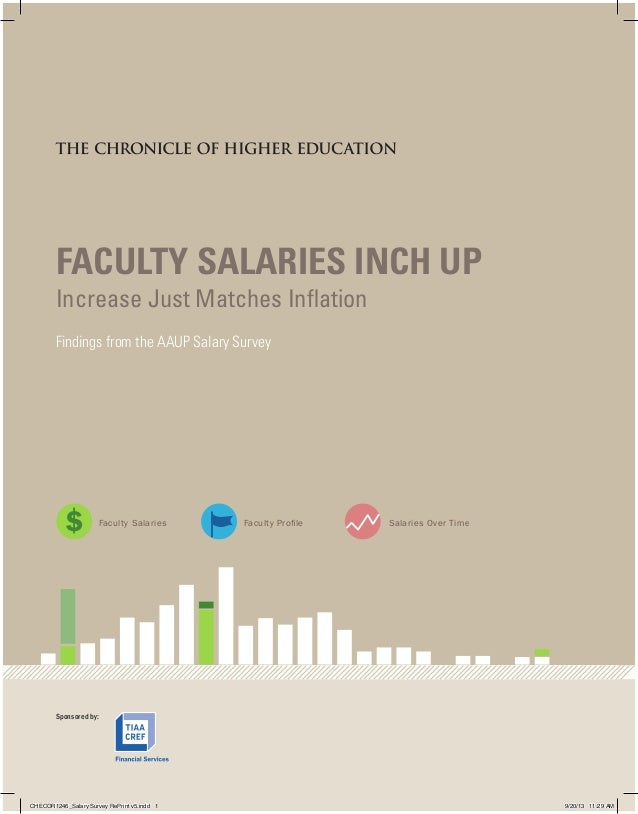 FACULTY SALARIES INCH UP Increase Just Matches Inflation Findings from the AAUP Salary Survey  S  Faculty Salaries  Facult...