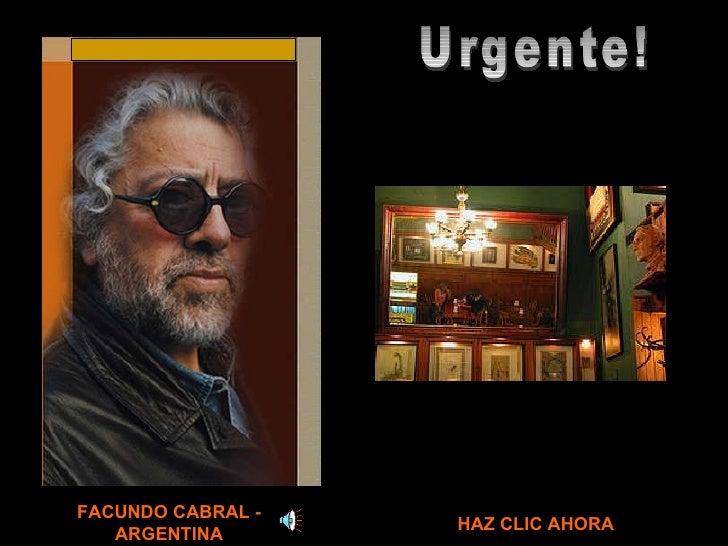 Facundo Cabral   urgente