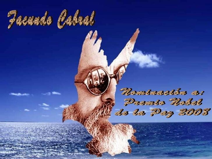 Facundo Cabral Nominación a:  Premio Nobel  de la Paz 2008
