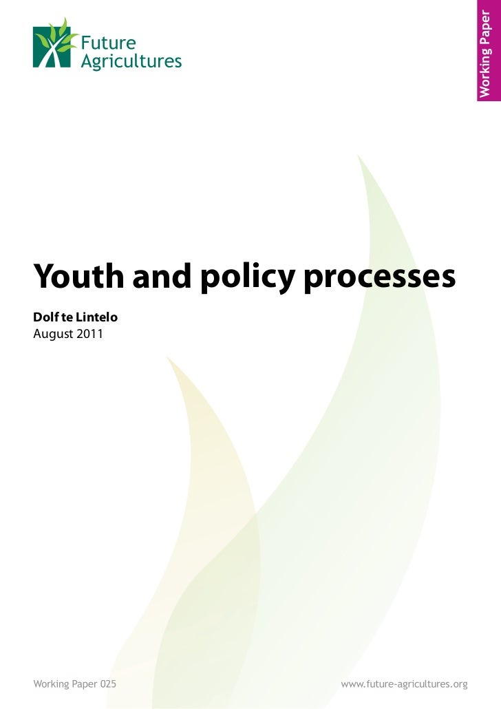 Youth and Policy Processes - Future agricultures