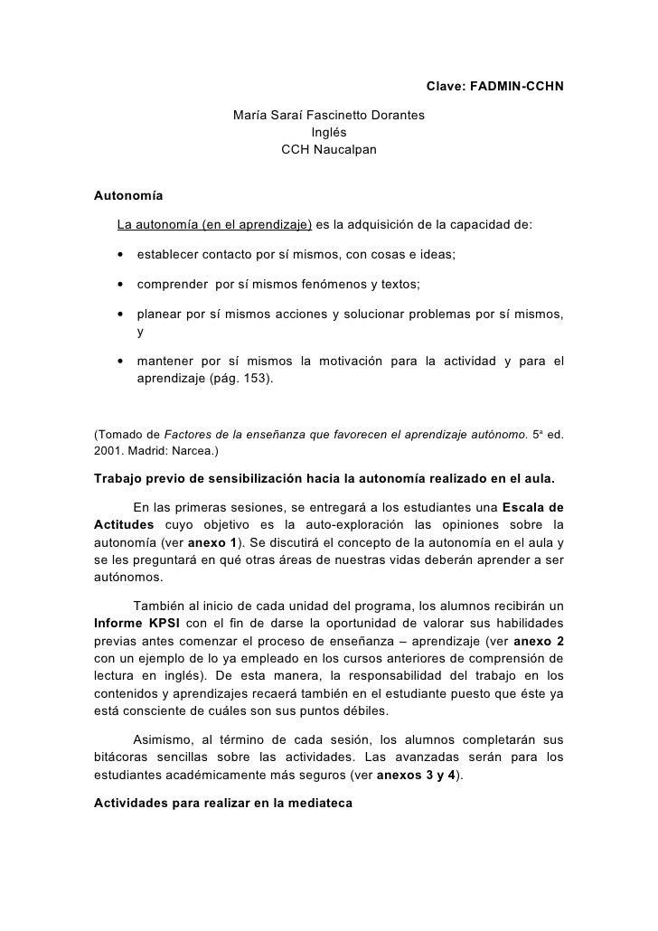Clave: FADMIN-CCHN                         María Saraí Fascinetto Dorantes                                     Inglés     ...