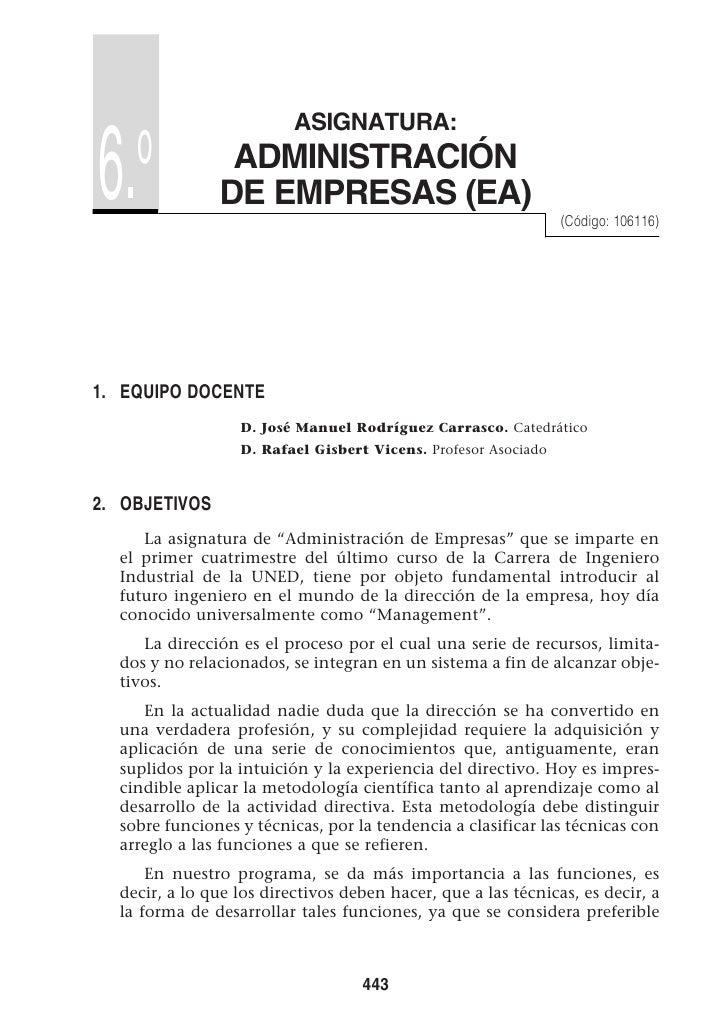 ASIGNATURA:      o 6.              ADMINISTRACIÓN                DE EMPRESAS (EA)                                         ...