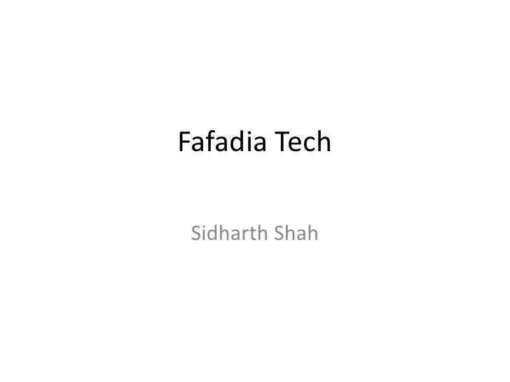 Fafadia Tech