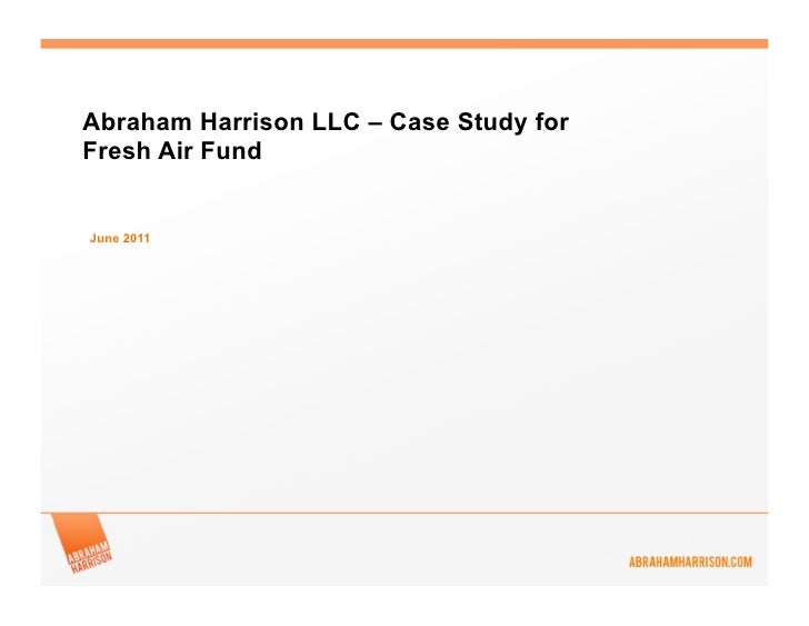 Fresh Air Fund case study