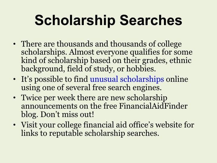 Free essay scholarships