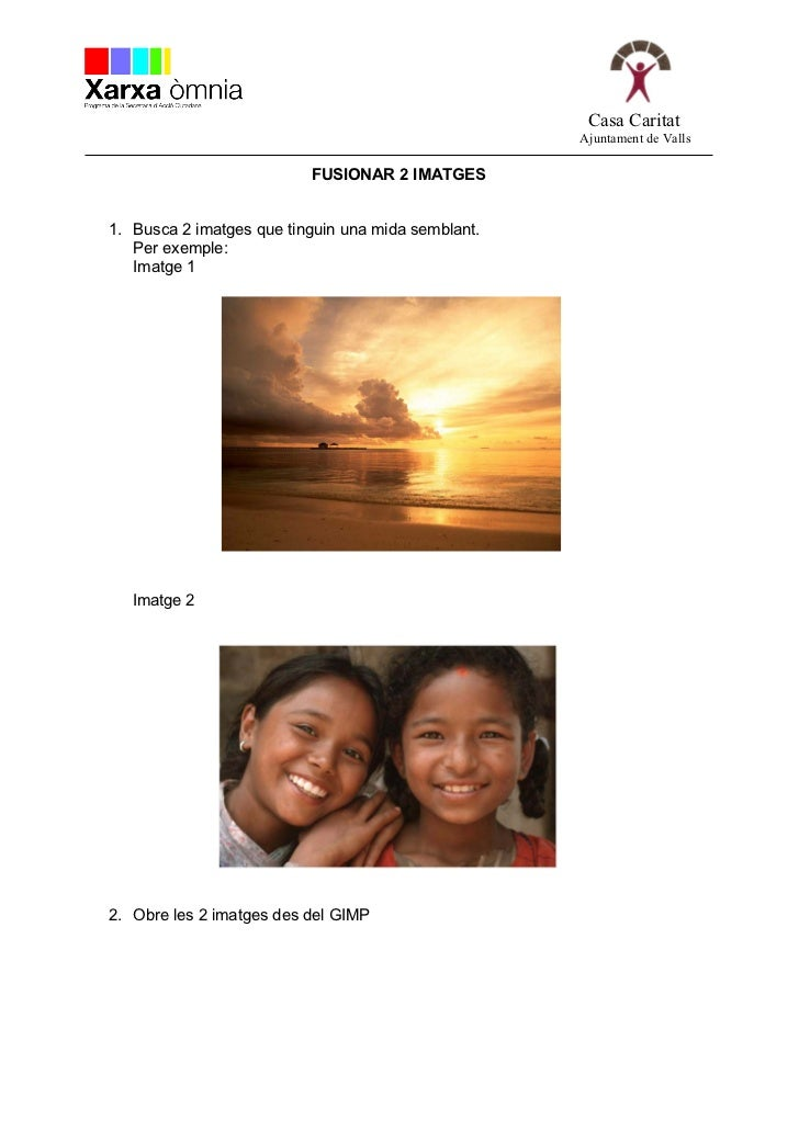 GIMP -  fusionar 2 imatges