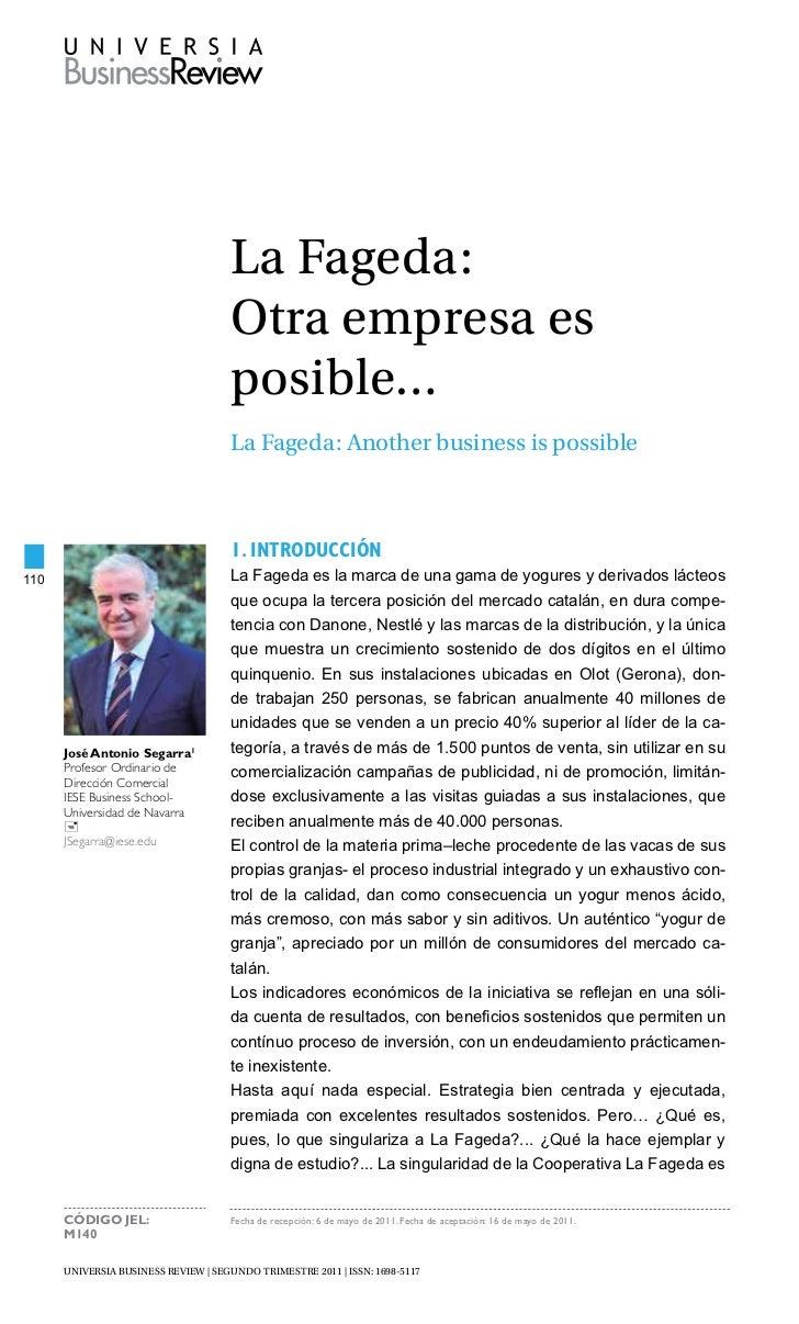 La Fageda:                                     otra empresa es                                     posible…               ...