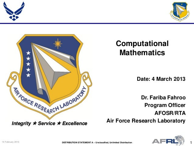 Fahroo - Computational Mathematics - Spring Review 2013