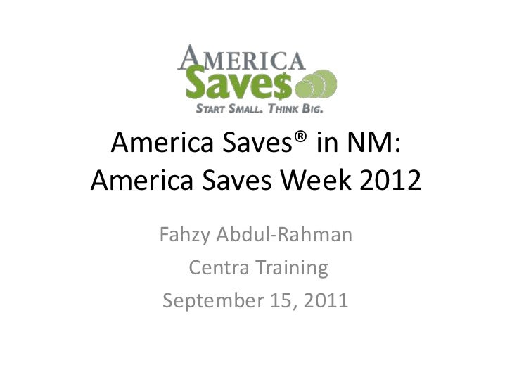 America Saves 2012 in NM