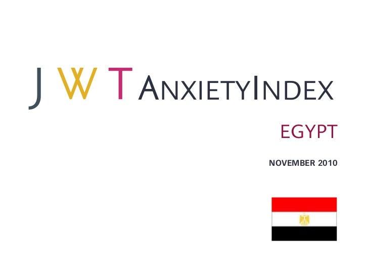 JWT AnxietyIndex: Egypt (November 2010)
