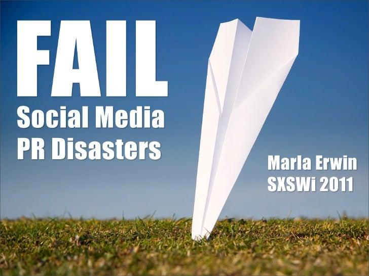 #FAIL - Infamous Social Media PR Disasters