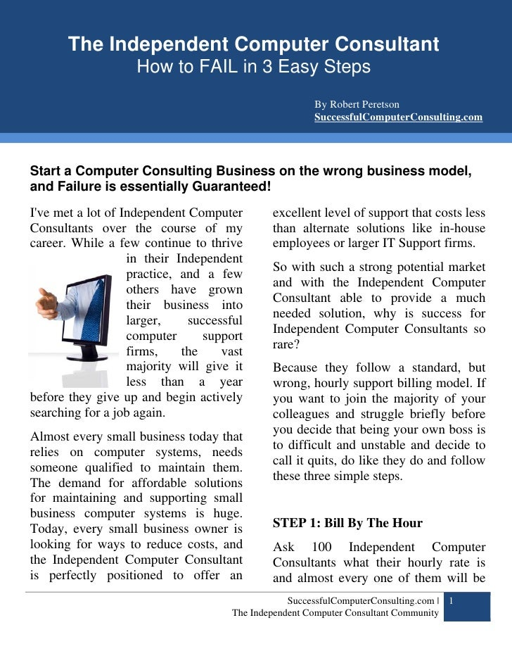 SuccessfulComputerConsulting.com        The Independent Computer Computer Consultant Community                        The ...