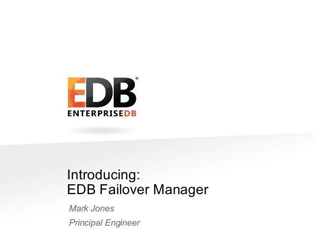 Introducing EDB Failover Manager