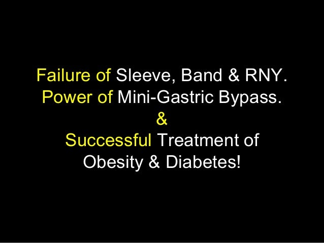 Failure of Sleeve, Band & RNY.Power of Mini-Gastric Bypass.&Successful Treatment ofObesity & Diabetes!