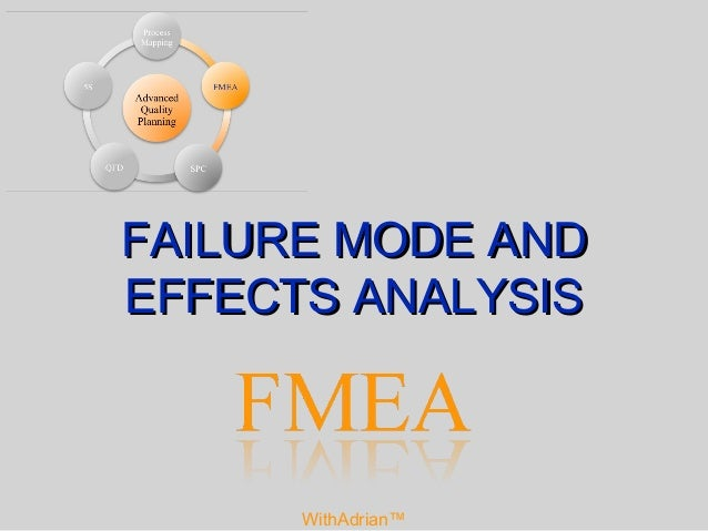 failure mode and effects analysis Examination of human error is limited a traditional fmea uses potential equipment failures as the basis for analysis all of the questions focus on how equipment functional failures can occur a typical fmea addresses potential human errors only to the extent that human errors produce equipment failures of interest human.