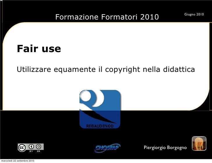 Fair use, utilizzare equamente il copyright nella didattica