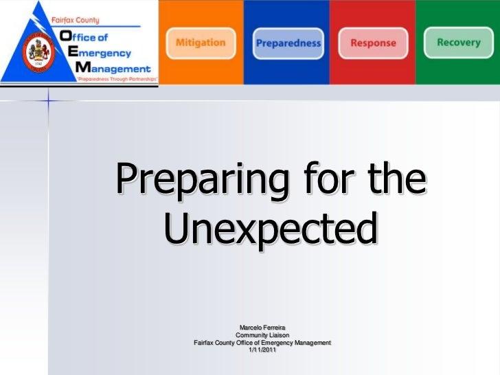 Fairfax County VA- Emergency Preparedness