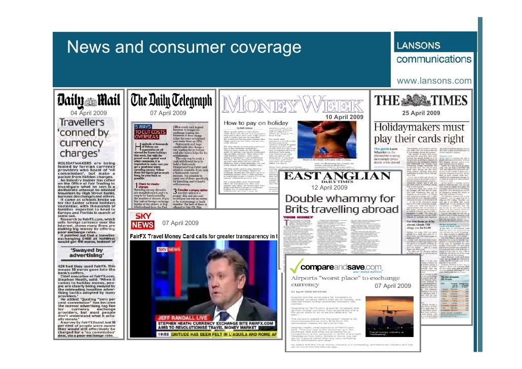 News and consumer coverage                                                                 www.lansons.com   04 April 2009...