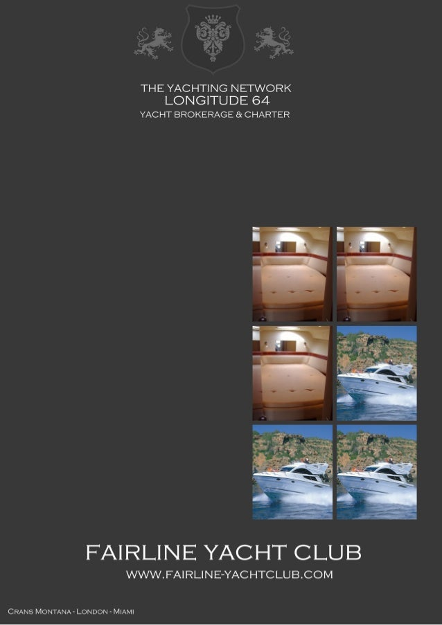 FAIRLINE Phantom 40, 2005, 215.000 € For Sale Brochure. Presented By fairline-yachtclub.com