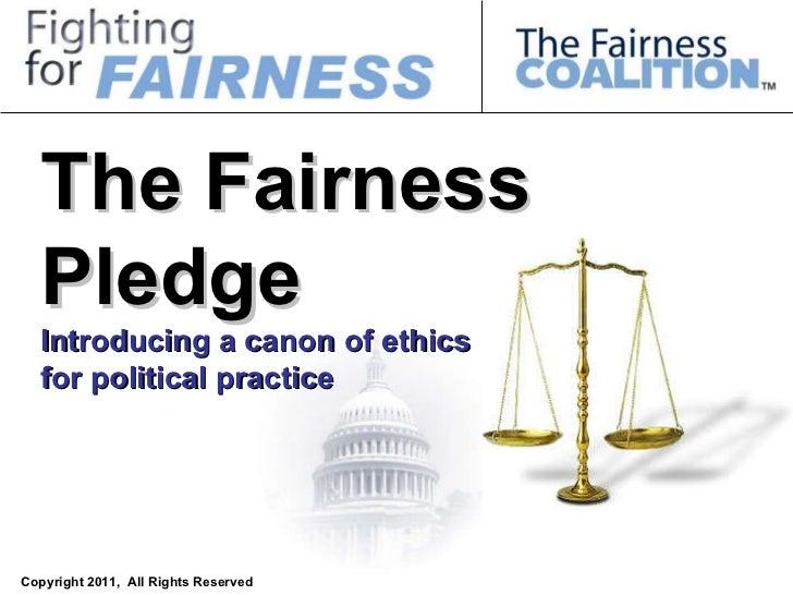 The Fairness pledge