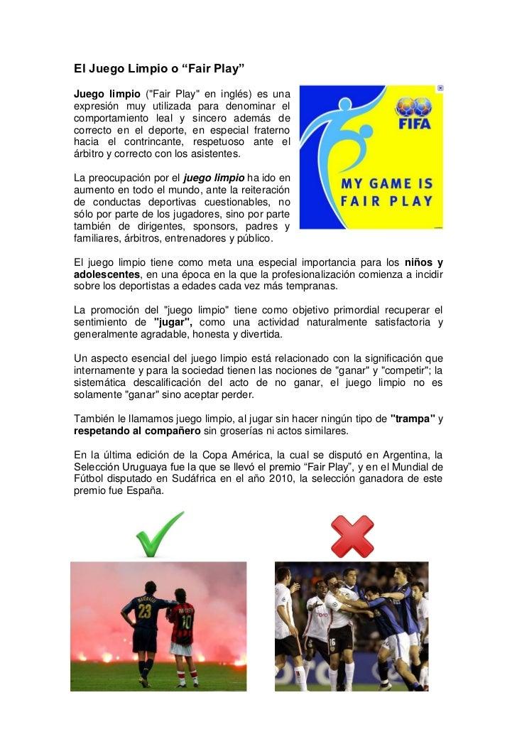 """Actividad sobre el """"Fair play"""""""