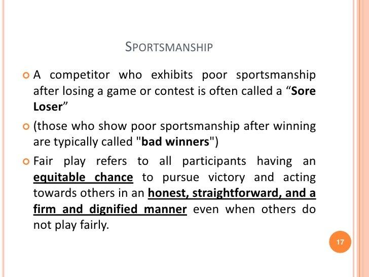 sportsmanship essay