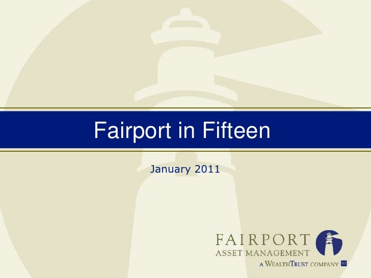 Fairport in 15 January 2011