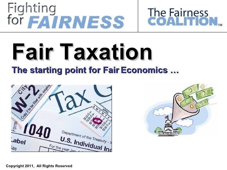Fair Taxation