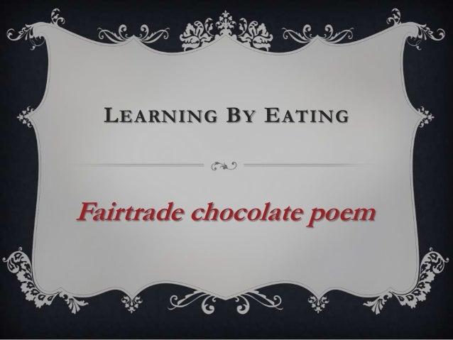 Fairtrade chocolate poem