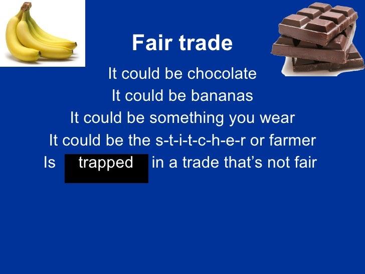 Fair Trade Fortnight Poem