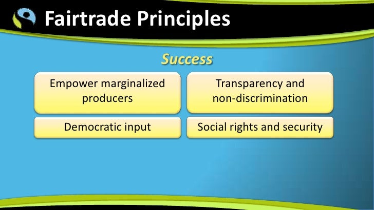 Fair trade marketing an alternative system for globalization and development