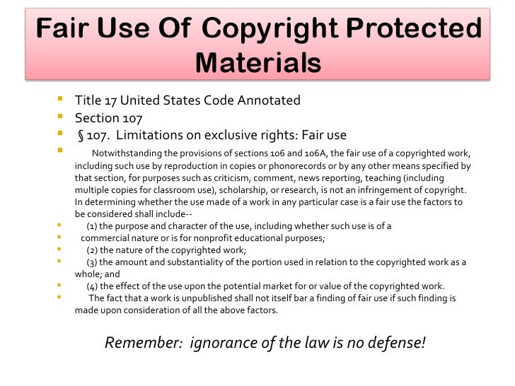 fair use While fair use favors criticism, comment, news reporting, teaching, scholarship and research, these uses are not automatically deemed fair uses only a court can determine with authority whether a particular use is a fair use.