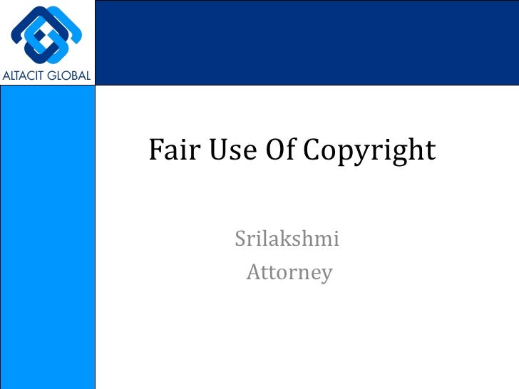 Fair use of copyright