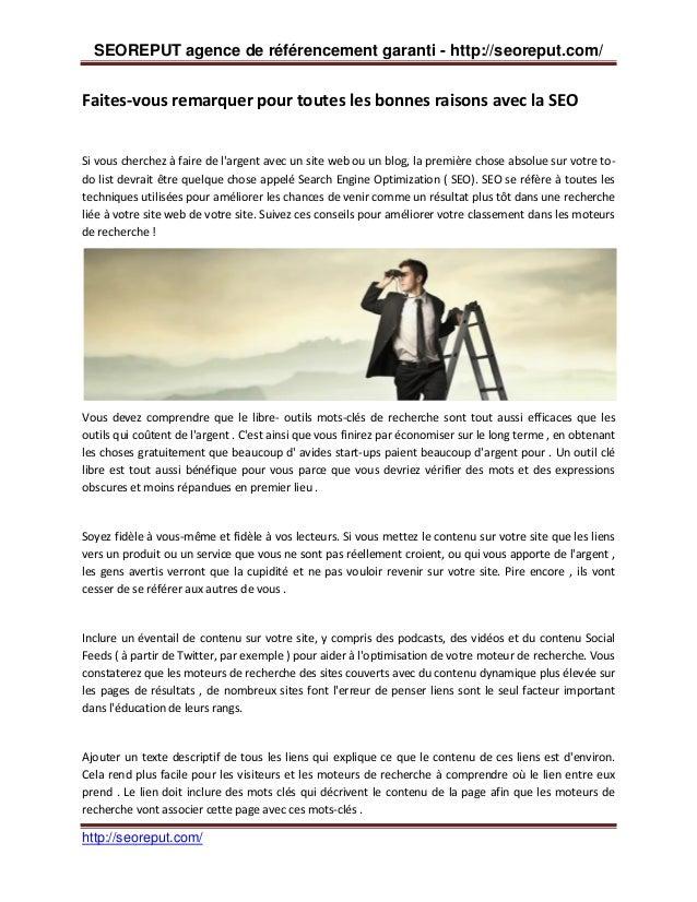 SEOREPUT agence de référencement garanti - http://seoreput.com/  Faites-vous remarquer pour toutes les bonnes raisons avec...