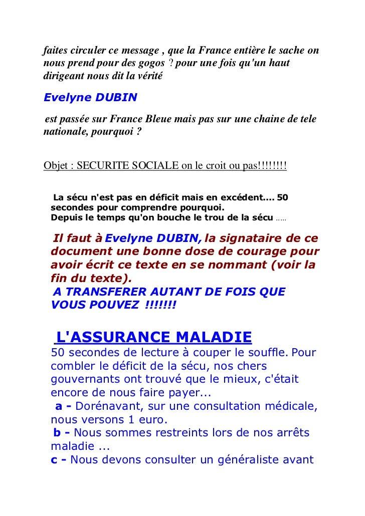 faites circuler ce message , que la France entière le sache onnous prend pour des gogos ? pour une fois quun hautdirigeant...