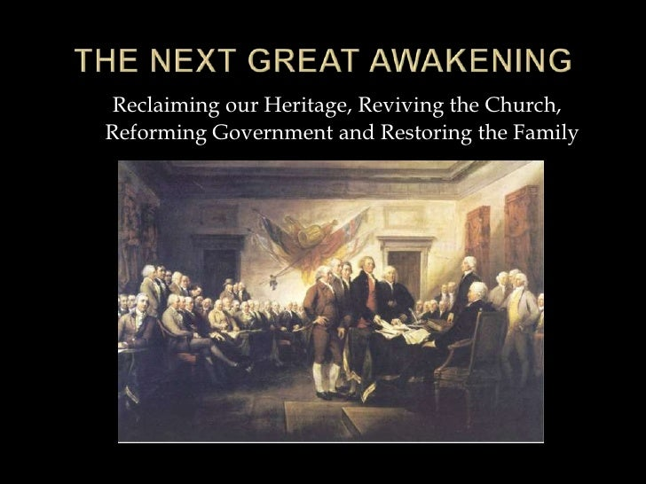 Reclaiming our Heritage, Reviving the Church,Reforming Government and Restoring the Family