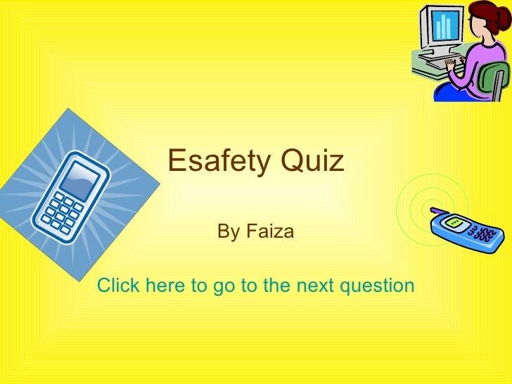 Faiza Ahmed PP Quiz